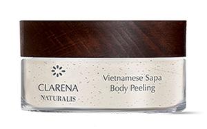CLARENA Naturalis, Vietnamese Sapa Body Peeling, 100% wegański, naturalny peeling do ciała z ryżem Sapa, 100 ml