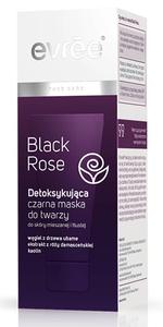 EVREE Black Rose, Detoksykująca czarna maska do twarzy, każda cera, 75 ml