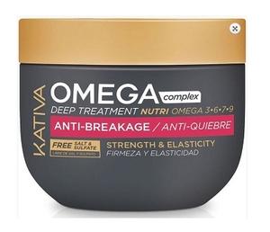 KATIVA Omega Complex Anti-Breakage Deep Treatment, Kuracja regenerująca do łamliwych włosów, 250 ml