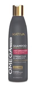 KATIVA Omega Complex Anti-Breakage, Szampon regenerujący do łamliwych włosów, 250 ml