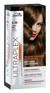 JOANNA Ultraplex Color, Pielęgnacyjna farba do włosów, 6.36 ciepły brąz, 1 op.