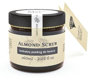 [W] MAKE ME BIO Almond Scrub, Migdałowy peeling do twarzy, każda cera, sucha i wrażliwa, 60 ml