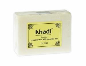 KHADI, 100% Naturalne mydło glicerynowe  Jaśmin, każda cera, 125g