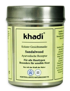 KHADI, Oczyszczająca maseczka sandałowa, każda cera, 50g