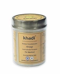 KHADI, Pomarańczowa maseczka do twarzy, każda cera szara i zmęczona, 50g