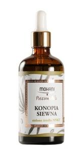 MOHANI, Naturalny olej konopny BIO, cera tłusta, mieszana, trądzikowa, 100 ml