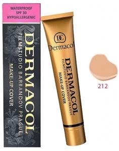 DERMACOL Make Up Cover, Wodoodporny podkład kryjący, nr 212, 30g