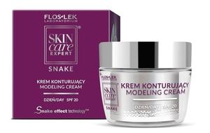 FLOSLEK Skin Care Expert Snake, Krem konturujący na dzień SPF20, cera dojrzała, 50 ml