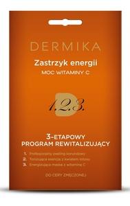 DERMIKA Programy Pielęgnacyjne, 3-etapowy program rewitalizujący Moc witaminy C, cera szara, 3 x 2 ml