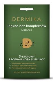 DERMIKA Programy Pielęgnacyjne, 3-etapowy program normalizujący Moc alg, cera tłusta i  mieszana, 3 x 2 ml