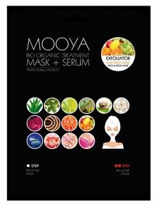 "BEAUTY FACE Moya Bio Organic, Zabieg ""Efekt peelingu"" maska+krem z kwasami owocowymi AHA, 1 op."