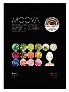 """BEAUTY FACE Moya Bio Organic, Zabieg na twarz i szyję """"Poprawa owalu twarzy"""" maska+serum z komórkami macierzystymi, 1 op. + płatki pod oczy GRATIS"""