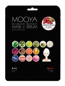 """BEAUTY FACE Moya Bio Organic, Zabieg na twarz i szyję """"Wzmocnienie i odbudowa"""" maska+serum z żurawiną, 1 op. + płatki pod oczy GRATIS"""