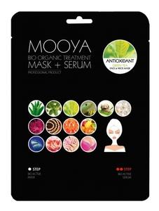 """BEAUTY FACE Moya Bio Organic, Zabieg na twarz i szyję """"Silny antyoksydant"""" maska+serum z zieloną herbatą, 1 op. + płatki pod oczy GRATIS"""