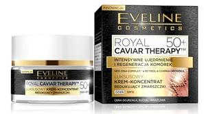 EVELINE Royal Caviar Therapy, Luksusowy krem - koncentrat redukujący zmarszczki na dzień 50+, 50 ml