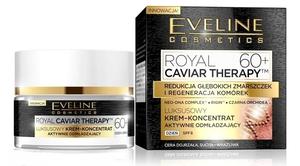 EVELINE Royal Caviar Therapy, Luksusowy krem - koncentrat aktywnie odmładzający na dzień 60+, 50 ml