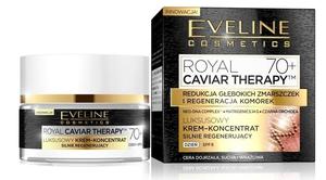 EVELINE Royal Caviar Therapy, Luksusowy krem - koncentrat silnie regenerujący na dzień 70+, 50 ml