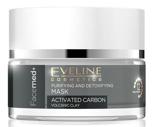 EVELINE FaceMed+, Maseczka oczyszczająco-detoksykująca aktywny węgiel, każda cera, 50 ml