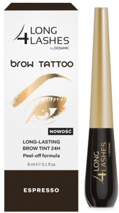 AA Long 4 Lashes Brow Tattoo, Żelowy preparat do brwi 24h - efekt makijażu permanentnego, Esspresso, 8 ml