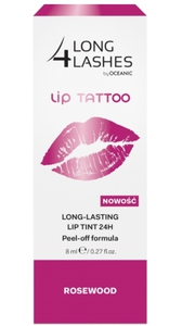 AA Long 4 Lashes Lip Tattoo, Żelowy preparat do ust 24h - efekt makijażu permanentnego, Rosewood, 8 ml