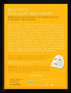 BEAUTY FACE Inteligent Skin Therapy, Rewitalizująca maska z ekstraktem z miodu i proteinami, każda cera, 1 szt. + płatki pod oczy GRATIS