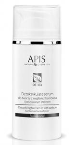 APIS Detox, Detoksykujące serum z węglem z bambusa i jonizowanym srebrem, cera tłusta i mieszana, 100 ml