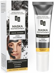 AA Carbon & Clay, Maska oczyszczająca Węgiel Japoński, cera normalna i mieszana, 30 ml