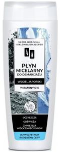 AA Carbon & Clay, Płyn micelarny do demakijażu Węgiel Japoński, każda cera, 200 ml