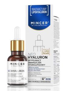 MINCER Neo Hyaluron, Hydrolipidowy wypełniacz zmarszczek, cera sucha i odwodniona, 15 ml