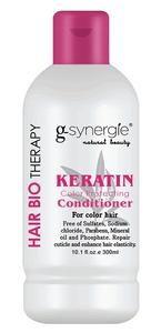 G-SYNERGIE Keratin, Odżywka chroniąca kolor z imbirem, włosy farbowane, 300 ml