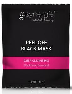 [W] G-SYNERGIE Peel Off Black Mask, Czarna maska głęboko oczyszczająca, cera zanieczyszczona, tłusta, trądzikowa, 10 ml