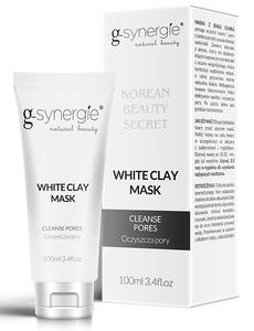 G-SYNERGIE White Clay Mask, Biała maska oczyszczająca, każda cera, 100 ml