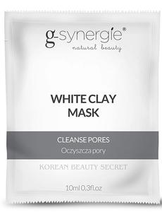 [W] G-SYNERGIE White Clay Mask, Biała maska oczyszczająca, każda cera, 10 ml