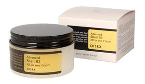 COSRX Advanced Snail 92 All in One Cream, Wielozadaniowy krem ze śluzem ślimaka, każda cera, 100 ml