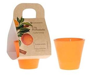 FLOR DE MAYO Botanic, Aromatyczna świeca zapachowa Cynamon i Pomarańcza, 125g