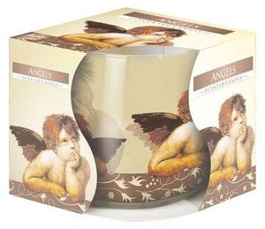 BISPOL Scented Angels, Świeca zapachowa w szkle Aniołki, 1 szt