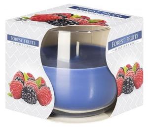 BISPOL Scented Candle Forest Fruits, Świeca zapachowa w szkle Owoce Leśne, 1 szt