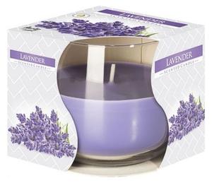 BISPOL Scented Candle Lavender, Świeca zapachowa w szkle Lawenda, 1 szt