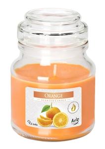 BISPOL Scented Orange, Świeca zapachowa w szkle Pomarańcza, 1 szt