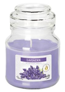 BISPOL Scented Lavender, Świeca zapachowa w szkle Lawenda, 1 szt