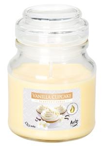 BISPOL Scented Vanilla Cupcake, Świeca zapachowa w szkle Ciasteczko Waniliowe, 1 szt