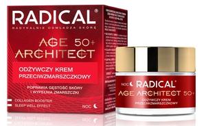 FARMONA Radical Age Architect, Odżywczy krem przeciwzmarszczkowy na noc 50+, cera dojrzała, 50 ml