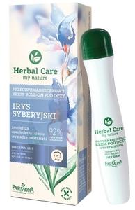 FARMONA Herbal Care, Przeciwzmarszczkowy krem roll-on pod oczy Irys Syberyjski, każda cera, 15 ml