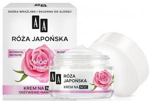 AA Botanical Infusion, Krem na noc moc liftingu Róża Japońska 60+, cera dojrzała, 50 ml