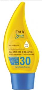 DAX Sun, Balsam do opalania z masłem kakaowym i olejem arganowym SPF 30, 150 ml