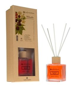 [W] FLOR DE MAYO, Patyczki bambusowe + olejek zapachowy Czerwone Owoce Leśne, 50 ml