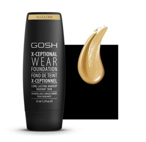 GOSH X-Ceptional Wear Foundation Fond De Teint, Podkład kryjący, nr 16 Golden, 35 ml