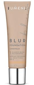 LUMENE Blur Longwear Foundation SPF15, Podkład wygładzający,  1 Classic Beige, 30 ml