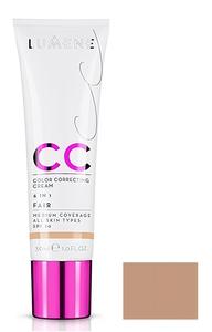 LUMENE CC Color Correcting Cream 6 in 1, Podkład, rozświetlacz i korektor, Fair, 30 ml
