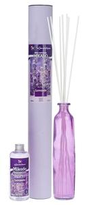 FLOR DE MAYO Mikado XL, Patyczki zapachowe + wazon + olejek Lawenda, 250 ml